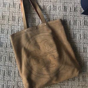 Tory Burch suede shoulder tote bag